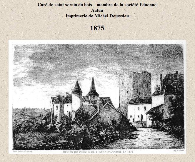 Gravure du village en 1875